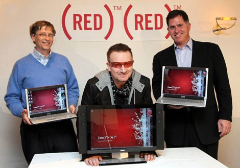 Bill Gates Bono Michael Dell (RED)